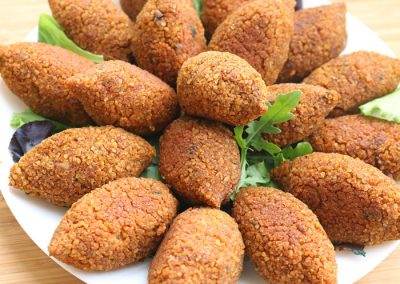 Kibbeh: €10/portion of 6 pieces