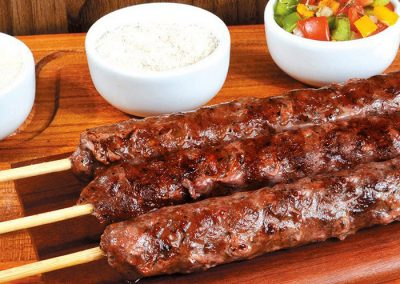 Kafta: €8/person (2 skewers)